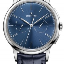 Zenith Elite Chronograph Classic Stainless Steel Blue Dial...
