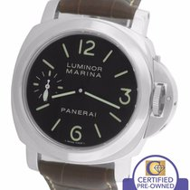 Panerai PAM 111 Luminor Marina Manual Wind Black Brown 44mm Watch