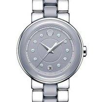 Movado Cerena Diamond Ladies Watch - Smoky Lilac Ceramic with...