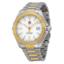 TAG Heuer Aquaracer Stainless Steel with 18kt Gold Mens Watch...