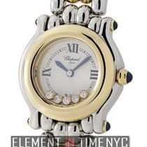 Chopard Happy Sport Round 5 Floating Diamonds Steel &...