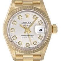 Rolex Lady President Gold Ladies Diamond Watch 69178