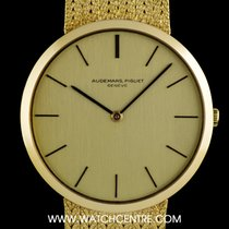 Audemars Piguet 18k Yellow Gold Champagne Baton Dial Gents...