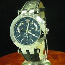Versace V-race Stahl Chronograph Herrenuhr Inkl Box &...