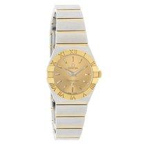 Omega Constellation 18K Gold Full Bar Swiss Quartz Watch...
