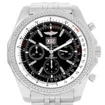 Breitling Bentley Motors Chrono Black Dial Mens Watch A44362...