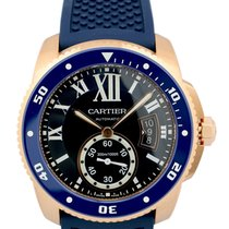 Cartier Calibre Diver Blue Rubber Band Automatic Men's...