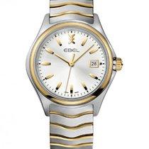 Ebel Wave Gent Steel/Gold Bracelet, Silver Dial, Date