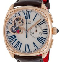 Zenith 18K Rose Gold Heritage Star Open Chronograph Ladies...