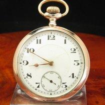 Junghans 800 Silber / Gold Mantel Open Face Taschenuhr