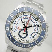 Rolex Yacht-master Ii 116680 Mens Steel Blue Ceramic Bezel...