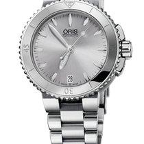 Oris Aquis Date 36, Ceramic Top, Silver Dial, Steel