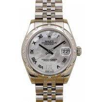 Rolex Datejust Ladies Midsize 178344-MOPRDRJ White Mother Of...