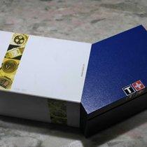 Tissot vintage watch box white and blu