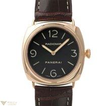 Panerai Historic Radiomir 18k Rose Gold Leather Men's Watch