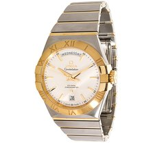 Omega Constellation Day-Date 18K Gold/Steel Auto Watch 123.20