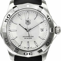 豪雅 (TAG Heuer) Men's Aquaracer Silver Dial Watch Wap1111.f...