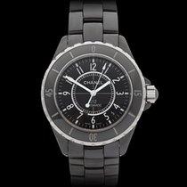 Chanel J12 Ceramic Black Ceramic/Stainless Steel Unisex H0685