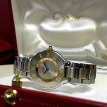 Cartier Must 21 Gold Steel Roman Bezel Lady Watch 30 mm