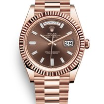 Rolex Day-Date 40mm Original Diamond Dial - Rose Gold President
