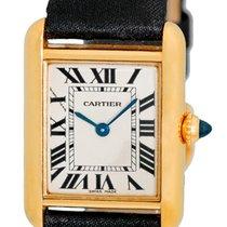 "Cartier ""Classic Louis Cartier Tank"" Strapwatch."