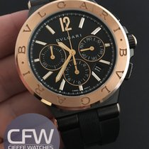 Bulgari Diagono Ultranero rose gold Chronograph