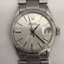 Rolex Mens Rolex Oyster Date Mid Size Stainless Steel Watch