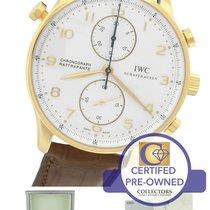 IWC Portuguese Chronograph Rattrapante 3712-003 IW3712003 18K RG