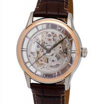 Oris Artelier Translucent Skeleton Two Tone Men's Watch – 01...
