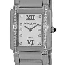 Patek Philippe Lady's Stainless Steel  Diamond Tiffany...