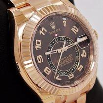 Rolex Sky-dweller 326935 18k Rose Gold Oyster Chocolate  Msrp-49k