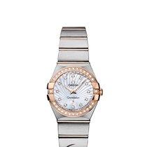 Omega Constellation Diamonds Quartz 24mm Steel/Gold
