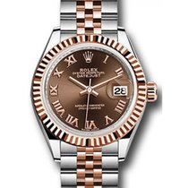 勞力士 (Rolex) Datejust 28 279171 Chocolate Roman Fluted Bezel...