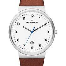 Skagen Mens Ancher Watch - White Dial - Stainless Steel -...