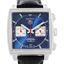 TAG Heuer Monaco Calibre 12 Blue Dial Chronograph Mens Watch...