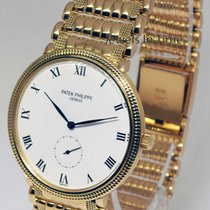 Patek Philippe 3919 Calatrava 18k Yellow Gold Bracelet Watch...