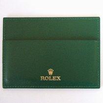 """Rolex Porta garanzia in pelle verde per """"Card"""""""