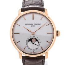 Frederique Constant Slim Line 42 Moonphase Rose Gold Silver Dial