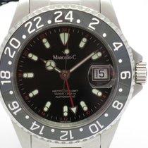 """Marcello C. """"Nettuno 3 GMT"""" 40mm. case/ceramic 24hrs...."""