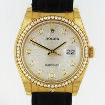 Rolex 116188  Datejust 36 YG Silver Jub Diam Dial Diam Bezel