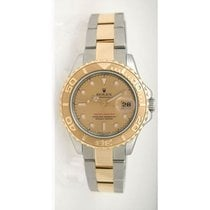 Rolex Yachtmaster 168623 Steel and Gold Mid-Size Champagne...