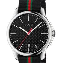 Gucci G-Timeless Quarz Large Slim Black Dial YA126321 R