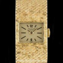 Patek Philippe 18k Y/Gold Silver Baton Dial Vintage Ladies...