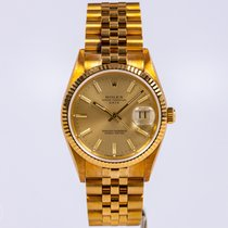 Rolex NOS 18k Date 15238 with Jubilee Band, Box and Papers