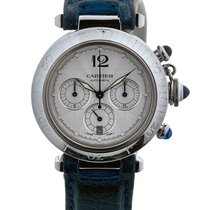 Cartier Pasha Cronografo 38mm In Acciaio