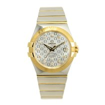Omega Constellation 18 K Yellow Gold Silver Automatic 123.20.3...
