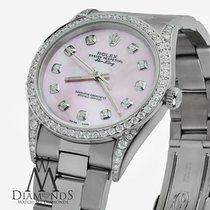 Rolex Ladies Rolex Air-king 34mm Stainless Steel Pink Mop...