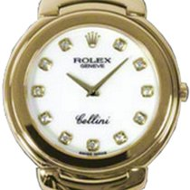 Rolex Cellini Quartz Ladies 6623-8 White Diamond Yellow Gold...