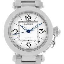 Cartier Pasha C Medium White Dial Steel Unisex Watch W31074m7