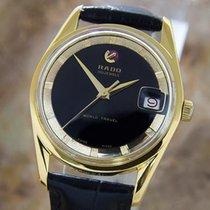 Rado Travel Time Rare Swiss Made 1960s Mens Automatic Gold...